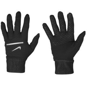 Nike Dri Fit Men's Sphere Running 2.0 Gloves Black/Silver, Large