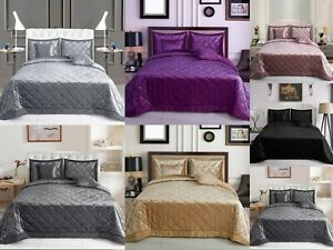 5 Pcs Velvet Quilted Bedspread Luxury Bed Throw Comforter Set with Pillowcases