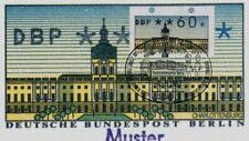"""Berliner ATM-Abart """"Schloß"""" Bildkarte """"ATM"""" Ersttagsstempel """"Schloß"""" hoher Wert"""