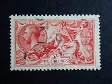 5s USED GEORGE V SEAHORSE - UNKNOWN COLOUR OR PRINTER - REF Z3
