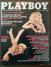 Playboy magazine January 1983 Audrey & Judy Landers Lonny Chin Stephen King VG