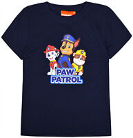 Boys Paw Patrol T shirt Kids Short Sleeve Cotton Disney Top Ages 2 3 4 5 6 8 Yrs