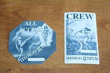 Indigo Girls - 2 x unused Backstage Pass - Lot #5  - Free Postage -