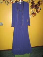 Patra 14 Navy Blue Beaded Evening Mother of the Bride Dress   14  Stretch