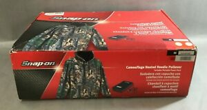 Snap-on Large Camouflage Heated Hoodie Pullover portable power pack New Open Box