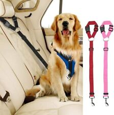 Rock n' Dogs Adjustable Harness Pet Car Vehicle Dog Seat Belt Red Pink Pack of 2