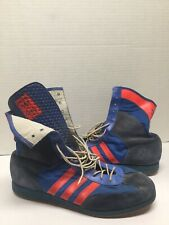 Vtg 60s 70s Adidas High Top Neon Shoes Sneakers Rare West Germany
