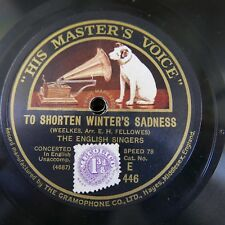 78rpm THE ENGLISH SINGERS to shorten winters sadness / the turtle dove , E 446