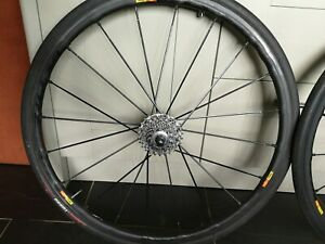 Mavic ksyrium SLR  Exalith wheels. Shimano 10/11 speed hub