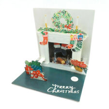 Holiday Mantel Light Up Christmas Card 3D Pop Up Holiday Greeting Card