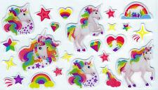Einhorn Sticker für Kinder 23 Polster Sticker zum Basten gestalten Geburtstag