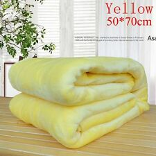 Super Soft Solid Warm Micro Throw Blanket Rug Plush Fleece Bed Quilt Sofa Home Yellow