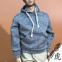 1:6 Scale ace action figure parts Dark Grey hoody hoodie Street style