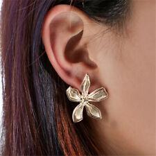 Metal Simple Flower Pendant Stereoscopic Earrings Women Fashion Earring Ear Stud