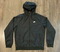 Nike Sportswear Windrunner Hooded Jacket Men's Sz Medium Black AT5270 010 NWT