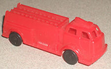 """Plastic Cereal Box Toy Red Firetruck Pumper 3"""" NICE"""