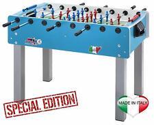 Calciobalilla Roberto Sport MATCH 2.1 colore azzurro - aste rientranti