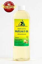 HAZELNUT OIL ORGANIC by H&B Oils Center COLD PRESSED PREMIUM 100% PURE 16 OZ