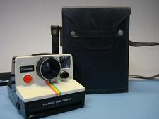 Vtg Polaroid One Step Rainbow Stripe Land Camera with case / not tested - as is