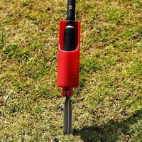 Fishing Rod Stand Pole Holder Plug Insert Ground Adjustable Iron Tool Q3J4