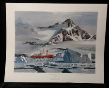 H.M.S. Endurance in the ice by Keith Shackleton,Limited Edition,Print