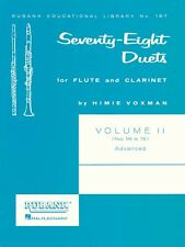 78 Duets for Flute and Clarinet Volume 2 - Advanced Nos. 56-78 Ensembl 004471050