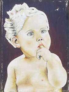 Baby/Druck auf Leinen/Repro/1262