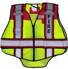 Fire 6 Point Breakaway Reflective Traffic Safety Vest Red Size Regular Hi Vis