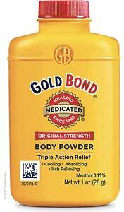 Gold Bond Original Strength Medicated Body Powder, Odor & Itch Relief 1 oz ✔️✔️