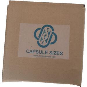 Empty Gelatin capsules 0 size x 100,000 Caps Kosher Halal 408mg-816mg fill Bulk
