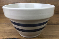 "RRP Robinson Ransbottom Pottery Roseville Ohio USA Blue Stripe 6"" Stoneware Bowl"