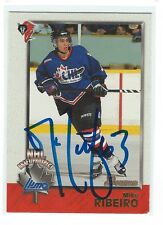 Mike Ribeiro Signed 1998/99 Bowman Prospects CHL Card #132