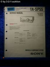 Sony Service Manual TA SP55 Micro Component System (#6055)