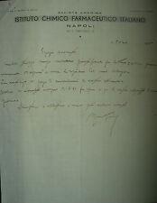 ANTICA FATTURA COMMERCIALE-ISTITUTO FARMACEUTICO ITALIANO-NAPOLI-INIZIO '900-