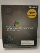 Microsoft Windows Server 2003 Enterprise Edition Software NEW Sealed 25 CAL's