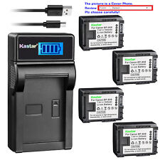 Kastar Battery LCD Charger for Canon BP-808 CG-800 Canon VIXIA HF M41 Camcorder