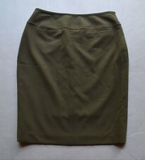 Signature by Larry Levine Petite Stretch Women's Army Green Lined Skirt Size 6P