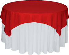 """Bridal Satin Table Overlay 58"""" x 58"""" Square Tablecloth Cover Wedding Decoration"""