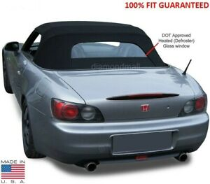 Honda S2000 2002-2009 Convertible Soft Top & Heated Glass Window Black STF CLOTH