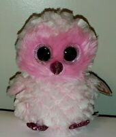 Ty Beanie Boos - TWIGGY the Pink Owl (NEW FOIL Design/Version)(6 Inch) NEW MWMT