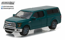 Greenlight 1:64 Country Roads Series 15 2015 Ford F-150 Camper Shell Green Gem