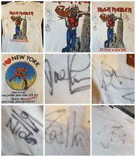 Iron Maiden Original Genuine Vintage T-shirt 82 Beast New York Tour Band Signed