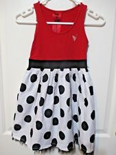 Girl's Dress Red top white and black spot  The Veronicas labels size 8