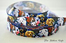 Dog Breeds printed grosgrain ribbon 22mm wide 2 METRES