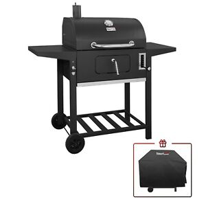 """Royal Gourmet CD1824AC 24"""" Charcoal Grill Outdoor BBQ Smoker with Cover"""