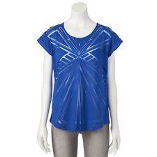 NWT Women's Apt. 9 Navy Sheer Blue Burnout Tee Size XS