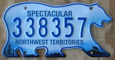 BEAR - NORTHWEST TERRITORIES CANADA license plate   2014   338357