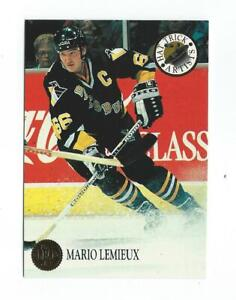 1993-94 Leaf Hat Trick Artists #4 Mario Lemieux Penguins