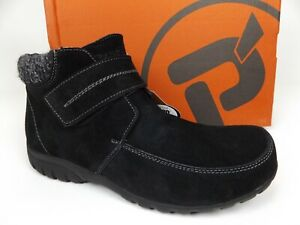 NEW Propet WFV003S Womens Delaney Ankle Boots Size 7.5 W [D], Black Suede, 21572