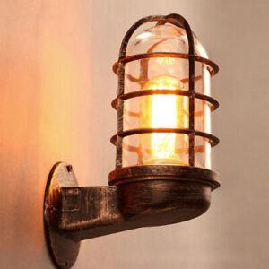 Vintage Industrial Wall Lamp Outdoor waterproof Light Glass Lighting H